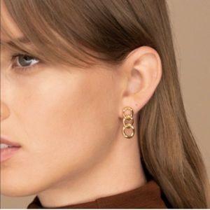 18k gold chain earrings